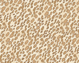 Hen pals from Benartex  Full or Half Yard Speckled Feather Neutral - Tan Cream