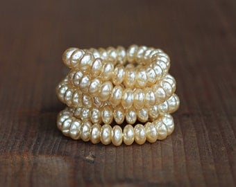 8mm Czech Baroque Pearl Rondelle Spacer