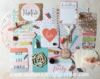 Precious - Love -  Inspirational - Cardmaking - Planner Kit - Journal Kit - Scrapbook Page Embellishment Kit - Journaling Cards
