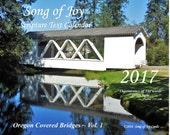 NEW!  2017 Calendar-Oregon Covered Bridges CSP-017 ~ 18.95 +shpg!
