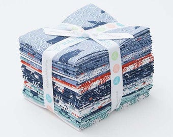 Riley Blake By The Sea Fat Quarter Fabric Bundle - Quilting, Sewing, Crafts