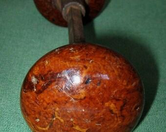 Antique Vintage Brown Swirl Porcelain Doorknob Set Victorian Doorknobs Hardware