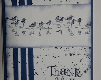 Handmade Blue/Bird Thank You Cards