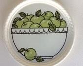 Vintage Royal China Company Green Apple Dessert Plate