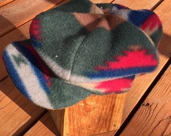 Newsboy Style - Plaid Fleece Cap with Visor