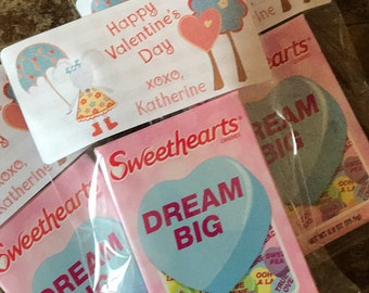 Sweet Little Mouse Valentine Stickers - Labels and Resealable Treat Favor Bags Set of 20