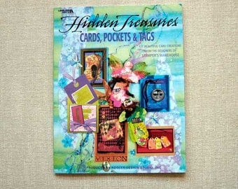 Card Making Instructions, Paper Crafts, Leisure Arts Craft Book, Hidden Treasures, How to Make Cards, Pockets, Tags, 121 Projects, Designs