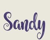 Sandy Script Embroidery Machine Monogram Alphabet Font Set 1009 - Includes 5 Sizes