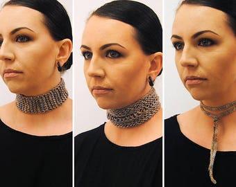 REGALIA Knitting Pattern PDF DK/Fingering weight chocker