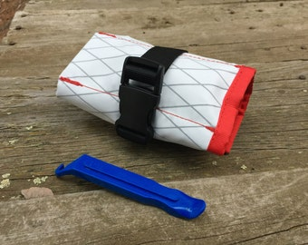Saddle Tool Roll- White with RecTrim