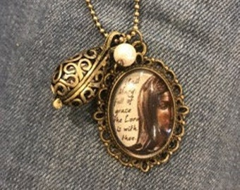 Hail Mary Oil Diffuser Necklace