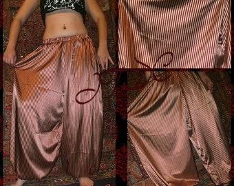 Satin Burgundy and Bronze 4 yard Stripe Pantaloons