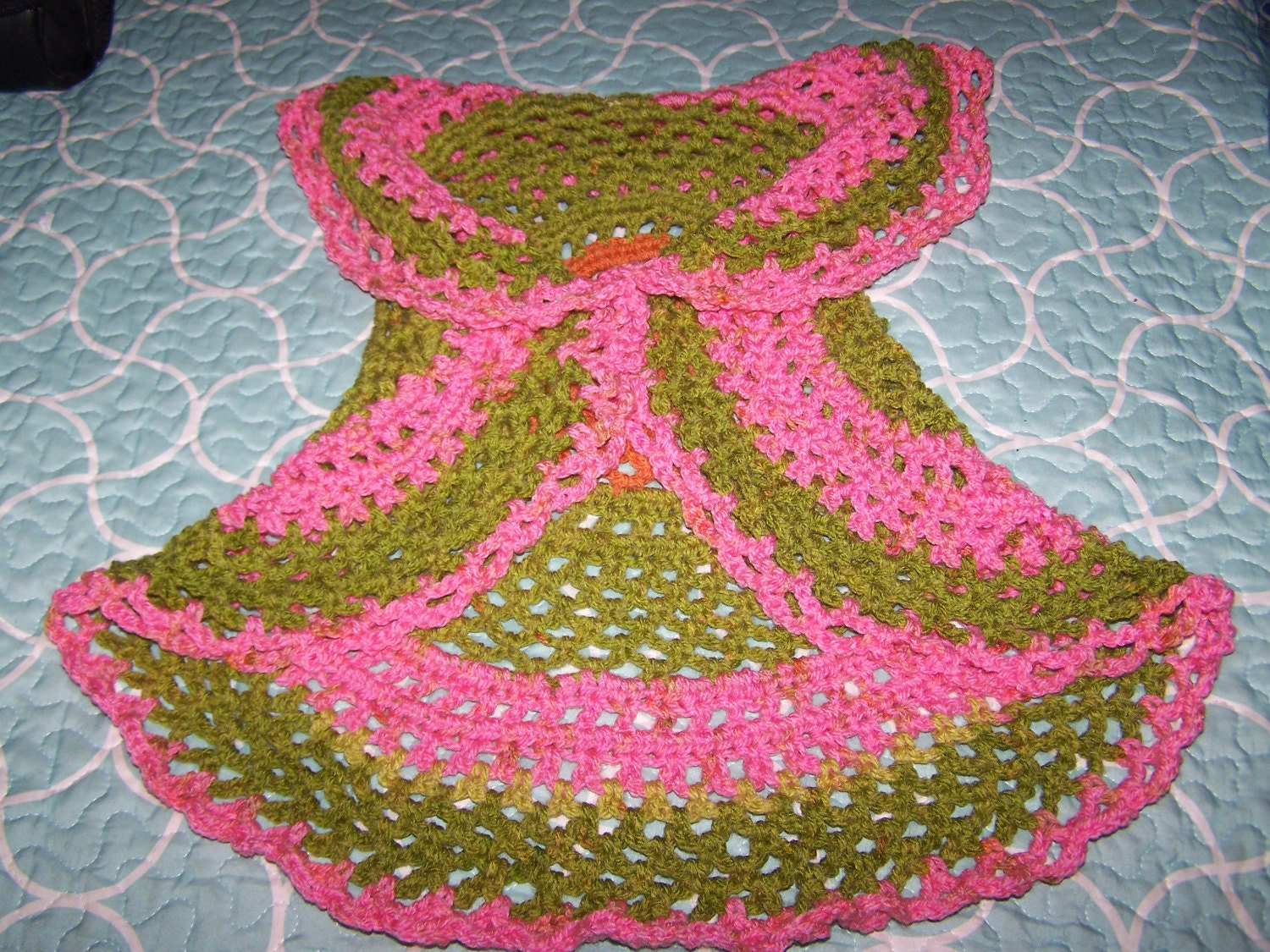 Boho hippie gypsy mandela circle vest hand crochet scarf wrap zoom bankloansurffo Choice Image