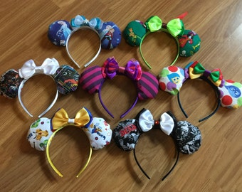 Custom Ears - Inspired Mickey/Minnie Disney ears in any style
