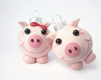 Pig Mini Christmas Ornaments, FREE SHIPPING