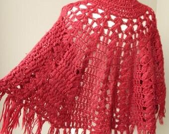 Vintage Knit Shawl Shoulder Cover Up