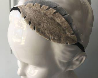 Felt Feather Headband in Neutral