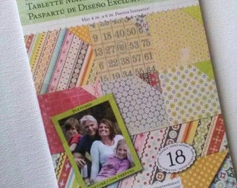 Destash- Cut 'N' Paste Designer Mat Pad 12 Double-Sided Sheets with 6 Assorted Prints by K&Company -Brenda Walton