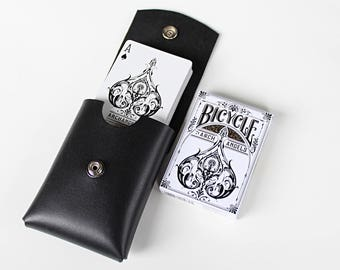 Playing Card Case, Card Deck Holster, Groomsman Gift, Mens Gift, Personalized Gifts, Magician, Monogrammed, Poker Player