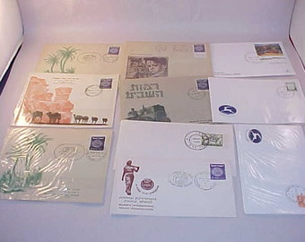 Israel Postage Stamps First Day Issue 10 Envelopes 1950s and 1960s