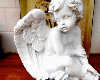 Hand Painted Cherub Angel