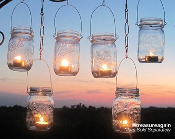 DIY Wedding Mason Jars Lanterns Hangers DIY Outdoor Party Hanging Candle Kits, Luminaries by TreasureAgain, Handmade Hangers Only, No Jars