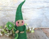 RESERVED listing just for Jennifer  needle felted lucky gnome, toy or fun decor for children set of 2 dolls