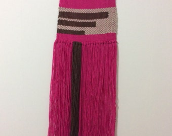 Pink and brown weaving