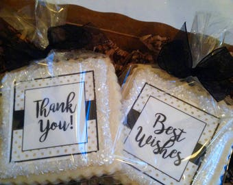 Thank You Best Wishes Get Well gift cookie favor