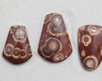Bird's Eye Rhyolite, rhyolite cabs for jewelry making or collecting, old stock, hand cut lapidary, ring stone, pendant focal, natural stone