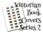 Victorian dollhouse book covers series 2 of 2, 1:12, PDF digital file, three sizes, 24 styles, 72 book covers!