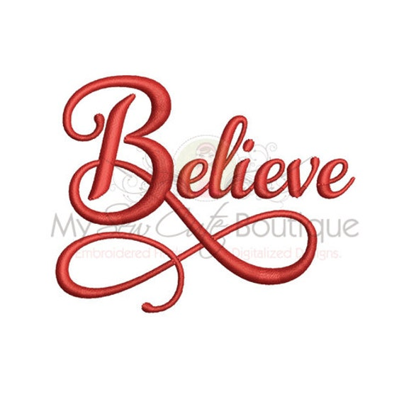 Believe Embroidery Designs Christmas Holiday Machine Sayings