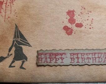 Silent Hill Pyramid Head Birthday Card