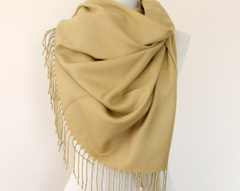 Camel pashmina scarf pashmina shawl bridesmaids gift wedding shawl bridal wrap wheat beige scarf pashmina wrap gift for her mothers day gift