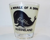 Vintage Mid Century Marineland Souvenir Mixing Glass