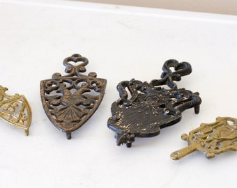 Vintage Iron and Brass Trivets
