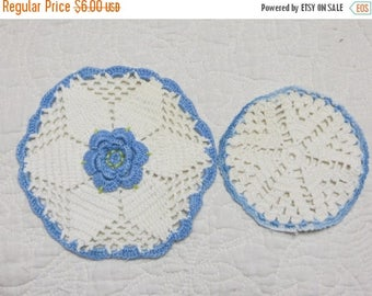 Store Closing SALE Vintage Crochet Roses Pot Holders-Set of 2