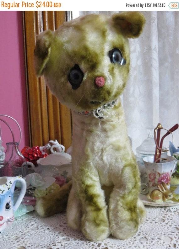 ON SALE Vintage Kitten Plush-Retro-Toy