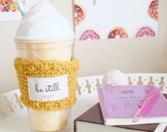 Be still coffee cup sleeve, Christian gifts,  bestfriend gift, gift for bestfriend, bridesmaid tumbler, Christian teacher gift for women