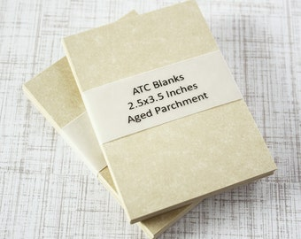 ATC Blanks ACEO Blanks Parchment Paper 60 count Artist Trading Card Supplies ACEO Supplies Altered Art Mixed Media Scrapbooking