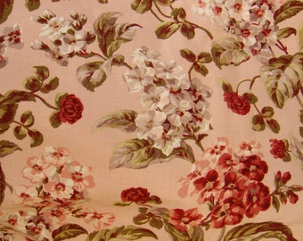 Vintage Shabby Chic Floral Fabric... 6 yards Drapery or Upholstery Fabric