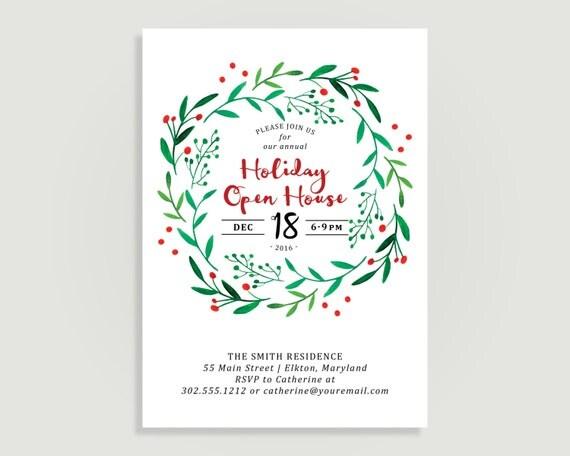 Holiday Open House Invitation