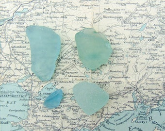Frosted White Irish sea glass pieces White Seaglass Pieces Sea Tumbled Glass from Ireland