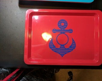 Anchor Serving Tray with Monogram