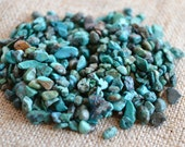 Turquoise Chips 1/4 pound Natural Gemstone Beads Blue Green 3- 15mm