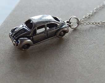 VW Necklace, Volkswagen, Vintage Necklace, Small Necklace, Gift for Her