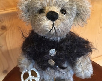 Peace: a handmade artist teddy bear from Jazzbears