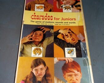 Vintage 1968 Charades for Juniors game from Selchow and RIghter Co, Made in USA Complete