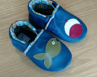 Baby boy fishing shoes size 5/ 12-18 months
