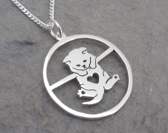Hanging On Kitty Pendant on Chain